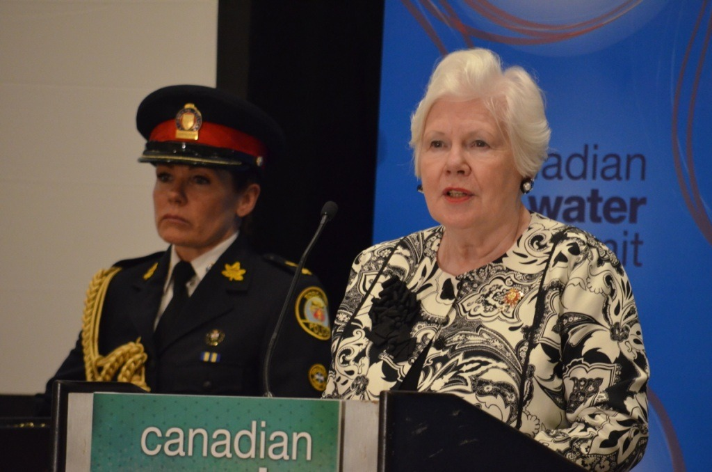 The Honourable Elizabeth Dowdeswell, 29th Lieutenant Governor of Ontario, delivers introductory remarks at CWS 2017.