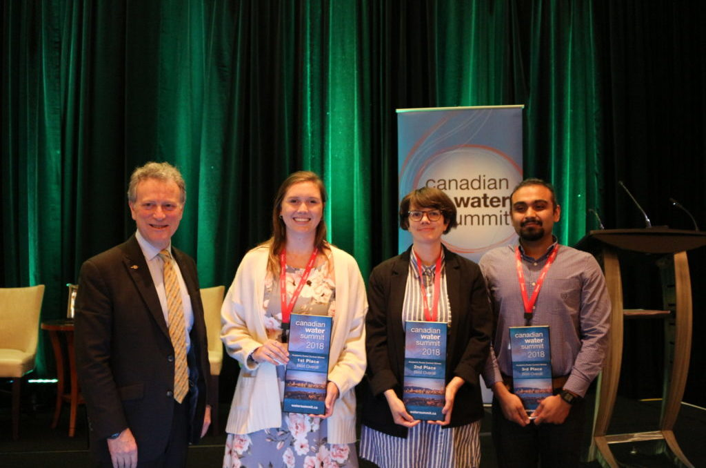 Student poster winners with Minister Heyman at CWS 2018.